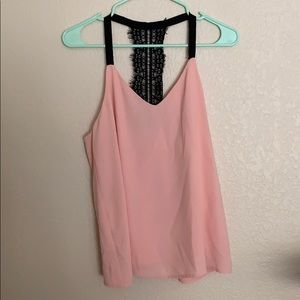 Pink and Black racerback top size M
